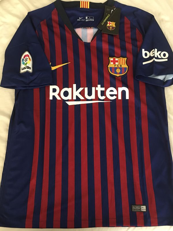 2849a653ab8 BARCELONA HOME JERSEY 2018-19 w LA Liga patch. Size M   XL for Sale ...