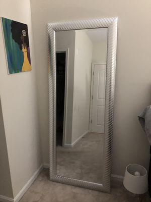 Silver Floor Mirror for Sale in Mount Rainier, MD