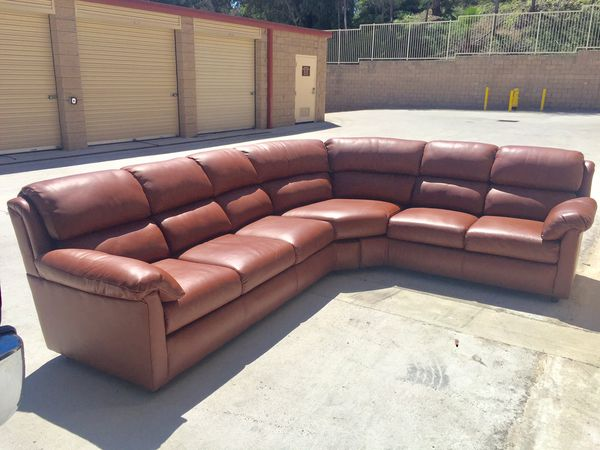 Custom leather sofa made in USA for Sale in Vista, CA - OfferUp