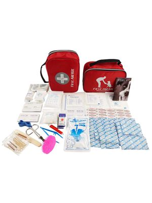 First Aid Kit w/Bag 174 Piece - Human & Pet First Aid Veterinarian Approved - Compact for Emergency(brand new) for Sale in Missouri City, TX