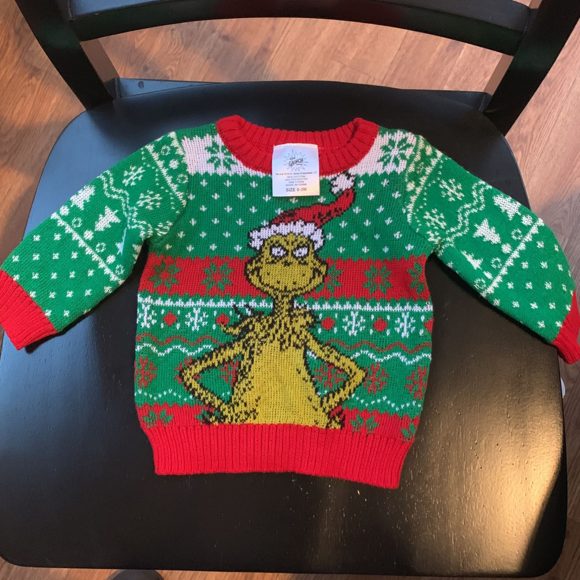 Grinch Christmas Sweater 3 Months