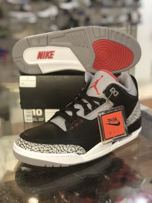 Brand new Black Cement 3s size 10 for Sale in Silver Spring, MD
