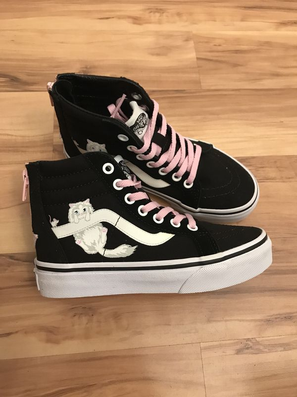 c2dcab9f232d8f RaRe Vans cat sk8 hi zip child s kids size 13 shoes girls for Sale ...