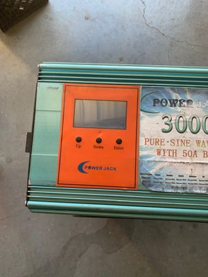 Power jack LFPSW-3000 LF 50A Pure  Sine Wave Power Inverter with 50 amp  battery charger 12,000 W peak surge for Sale in Hesperia, CA - OfferUp