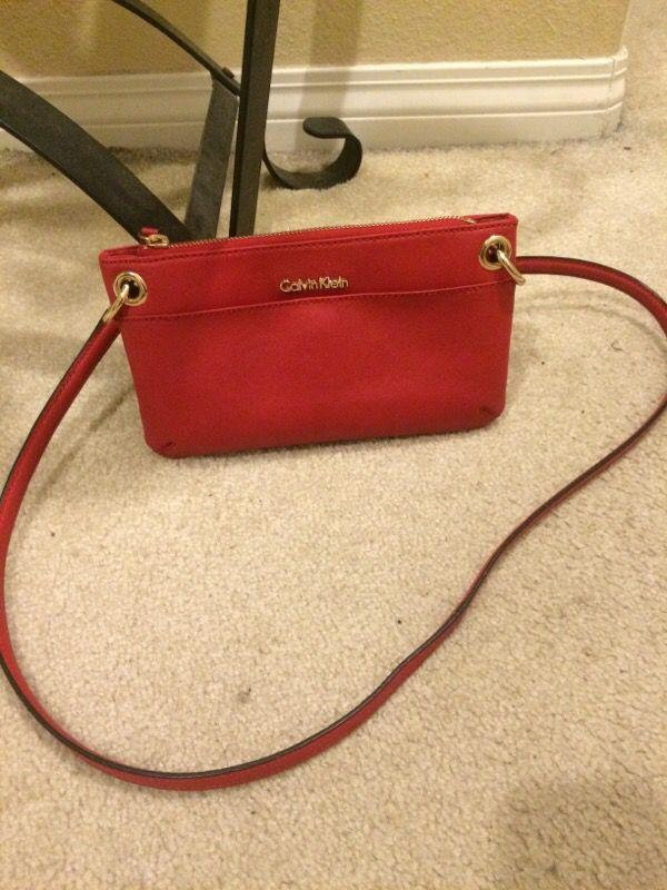 Hot red Calvin Klein cross body purse