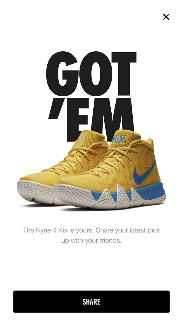 check out 00083 4073f Nike Kyrie 4 cereal pack KIX for Sale in Hemet, CA - OfferUp