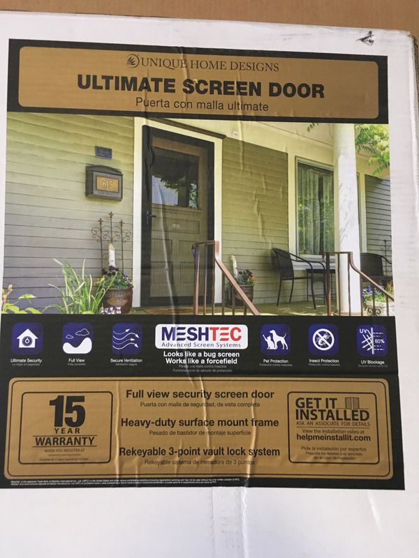 New in box 36 x 80 security screen door Unique Home designs for Sale in  Tolleson, AZ - OfferUp