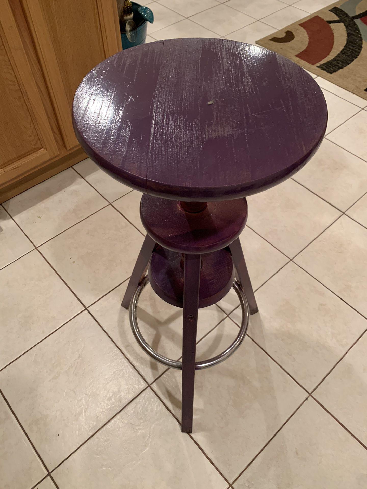 Dark purple wooden stool