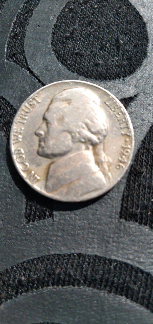 1946 No Mint War Nickle In Good Shape.