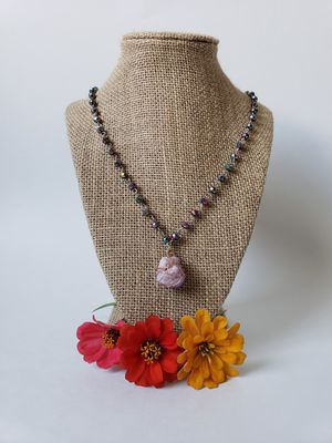 Purple Crystal Druzy Necklace for Sale in Centreville, VA