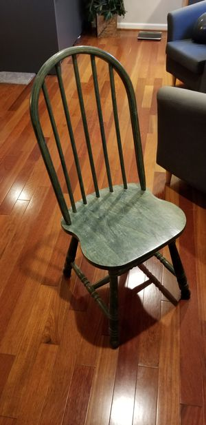 Green solid wood chair for Sale in Fairfax, VA