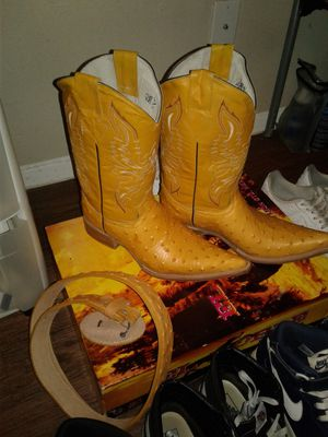 Botas de avestrus himitacion for Sale in Austin, TX