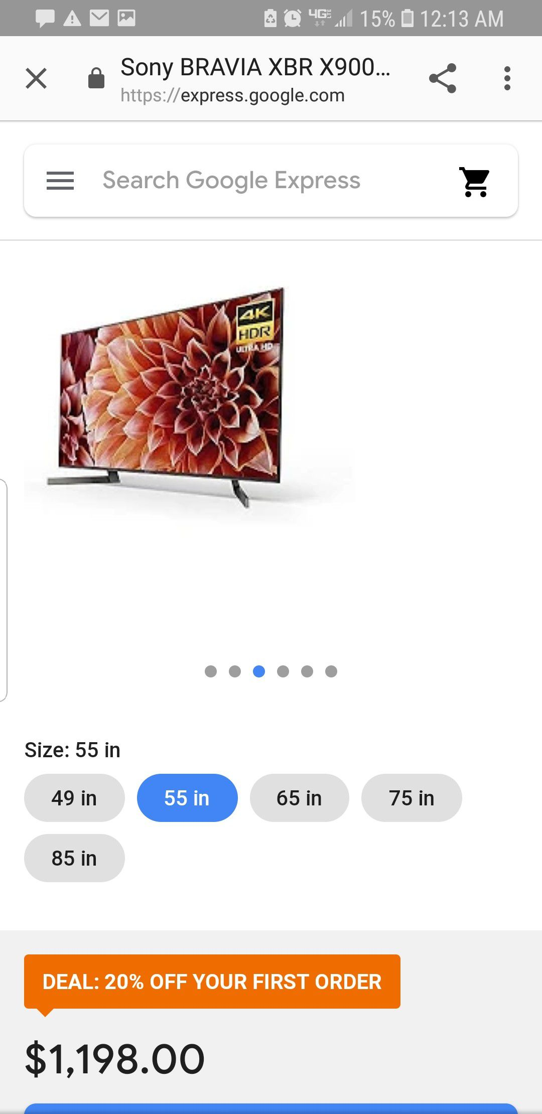 Sony XBR55X900F 55-Inch 4K Ultra HD Smart LED TV (2018 Model