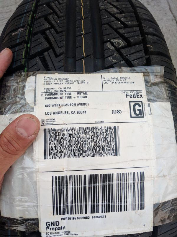 Pirelli Tires P6 P225 50 R17 For Sale In Los Angeles Ca Offerup