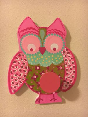 baby girl owls wall decor hand painted 18x24. Canvas. (Baby & Kids ...