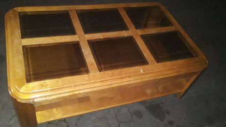 Glass center console table Thumbnail