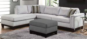New blue grey velvet sofa sectional for Sale in Boca Raton, FL