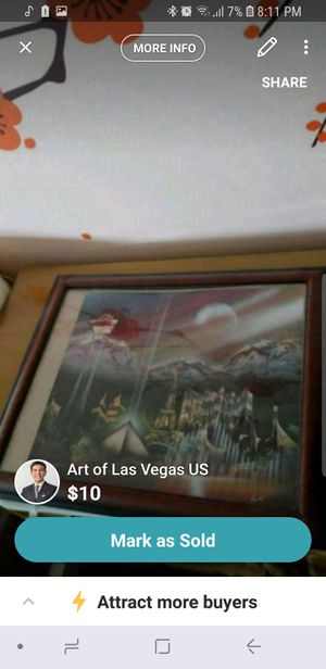 Art of Las Vegas with frame for Sale in Alexandria, VA