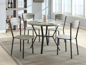 Compact gray color round dining table 5 piece set for Sale in Washington, DC