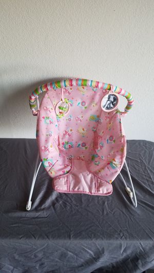 Bright Start PINK ELEPHANT BABY BOUNCER for Sale in Mesa, AZ