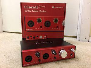 Focusrite Clarett 2pre (thunderbolt) for Sale in Lincolnia, VA