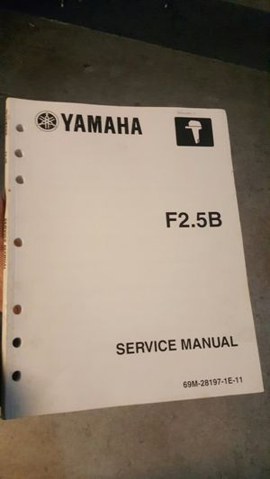 Yamaha service manual 2.5 hp for Sale in OR, US