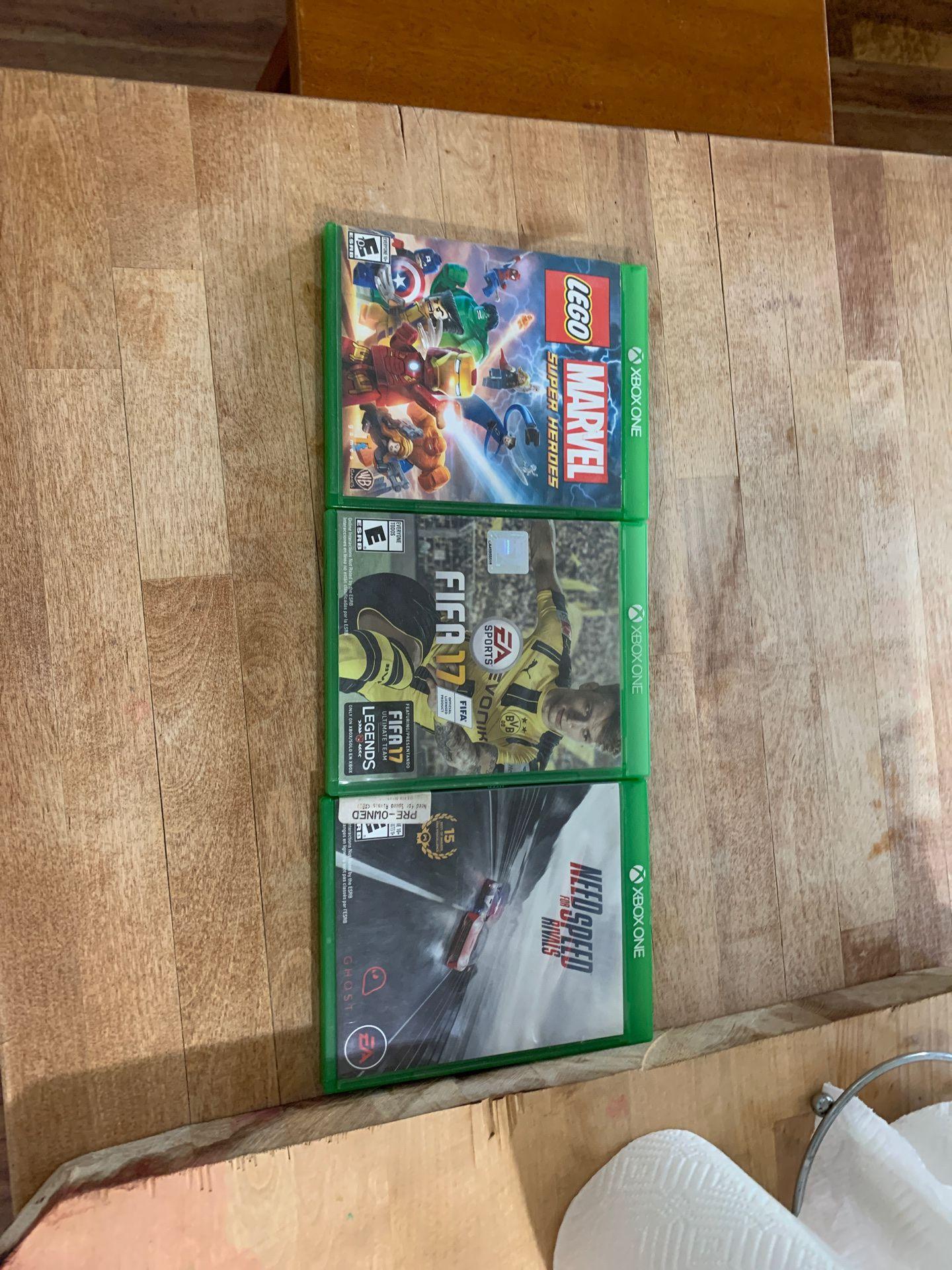 LEGO marvel. Fifa 17. Need for speed
