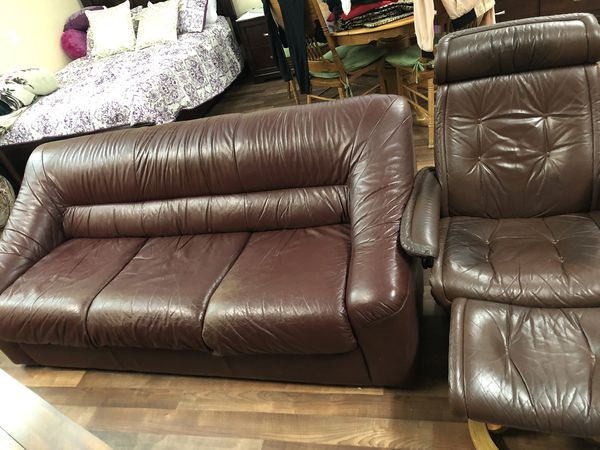 Incredible Leather Sofa With Leather Arm Chair For Sale In Redwood City Ca Offerup Download Free Architecture Designs Scobabritishbridgeorg