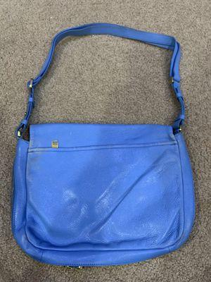Photo Fossil blue leather handbag purse