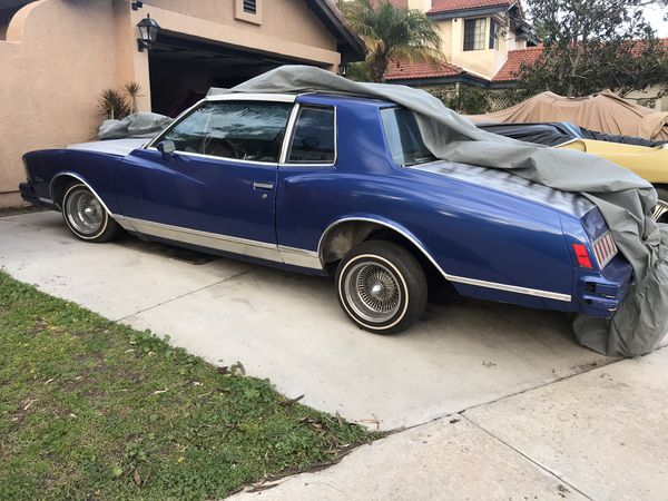 1978 Chevy Monte Carlo t-top lowrider,low rider trade or sell for Sale in  Chula Vista, CA - OfferUp