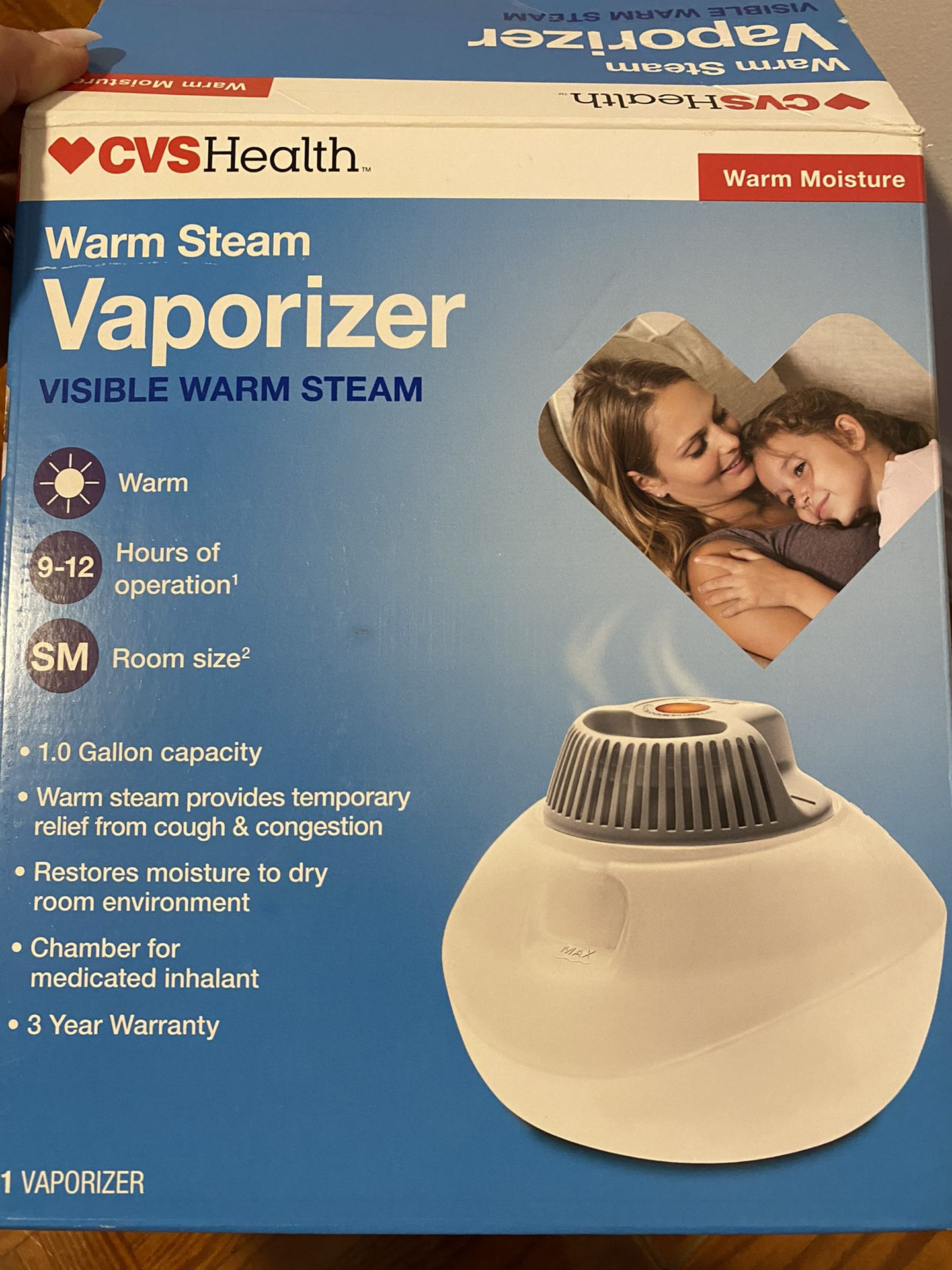 Warm steam vaporizer