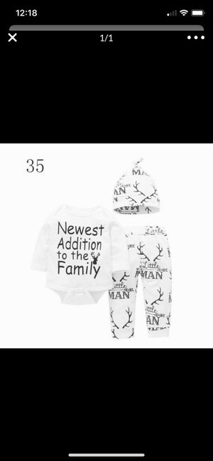 Photo Brand new 3 piece baby outfit 0 to 3 months