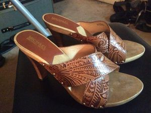 MICHAEL Michael Kors Brown Leather Sandals, size 10 for Sale in MD, US