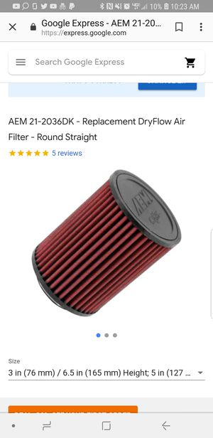 AEM dryflow air filter for Sale in Silver Spring, MD - OfferUp