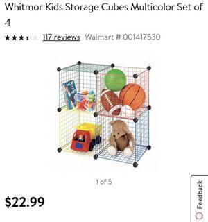 Kids multi color storage cubes (2 sets) for Sale in Murfreesboro, TN