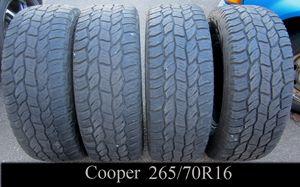 Photo SET of 4 COOPER AT3 DISCOVERER 265/70R16 tires