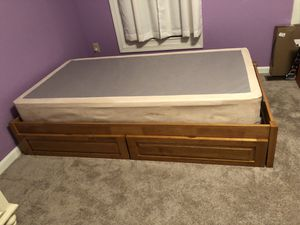 Bed frame with drawers and box spring. (Twin) for Sale in Laurel, MD