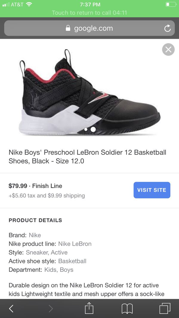 huge discount 9b92c b9fa0 Lebron soldier 12 basketball shoes for Sale in Homestead, FL ...