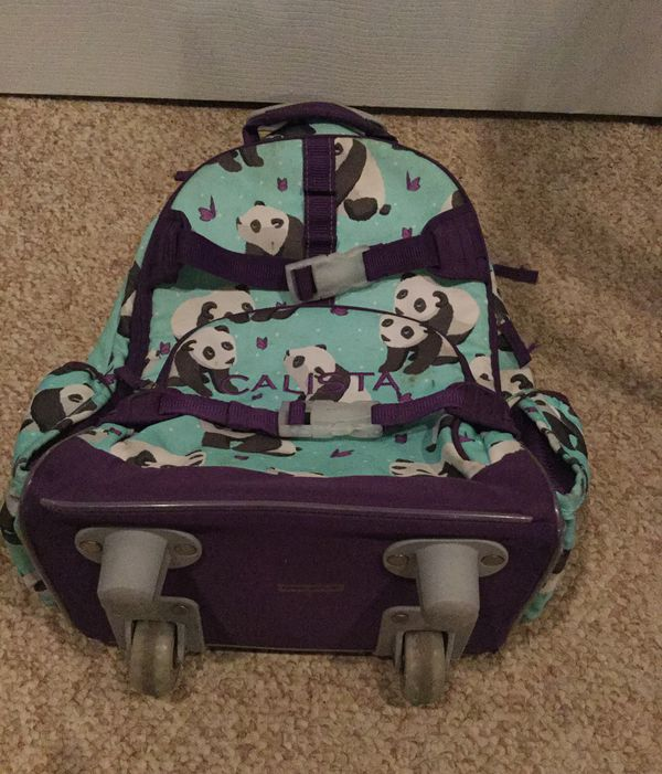 Panda Pottery Barn Kids Wheeling Backpack For Sale In