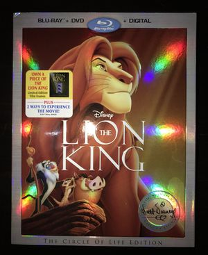 The Lion King Blu-Ray DVD - The Circle of Life Edition for Sale in Gaithersburg, MD