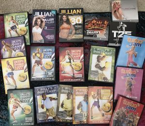 FUN Workout DVD's: Tae Bo, BeachBody's T-25, Insanity, Turbo Jam &Cize! for Sale in Bethesda, MD