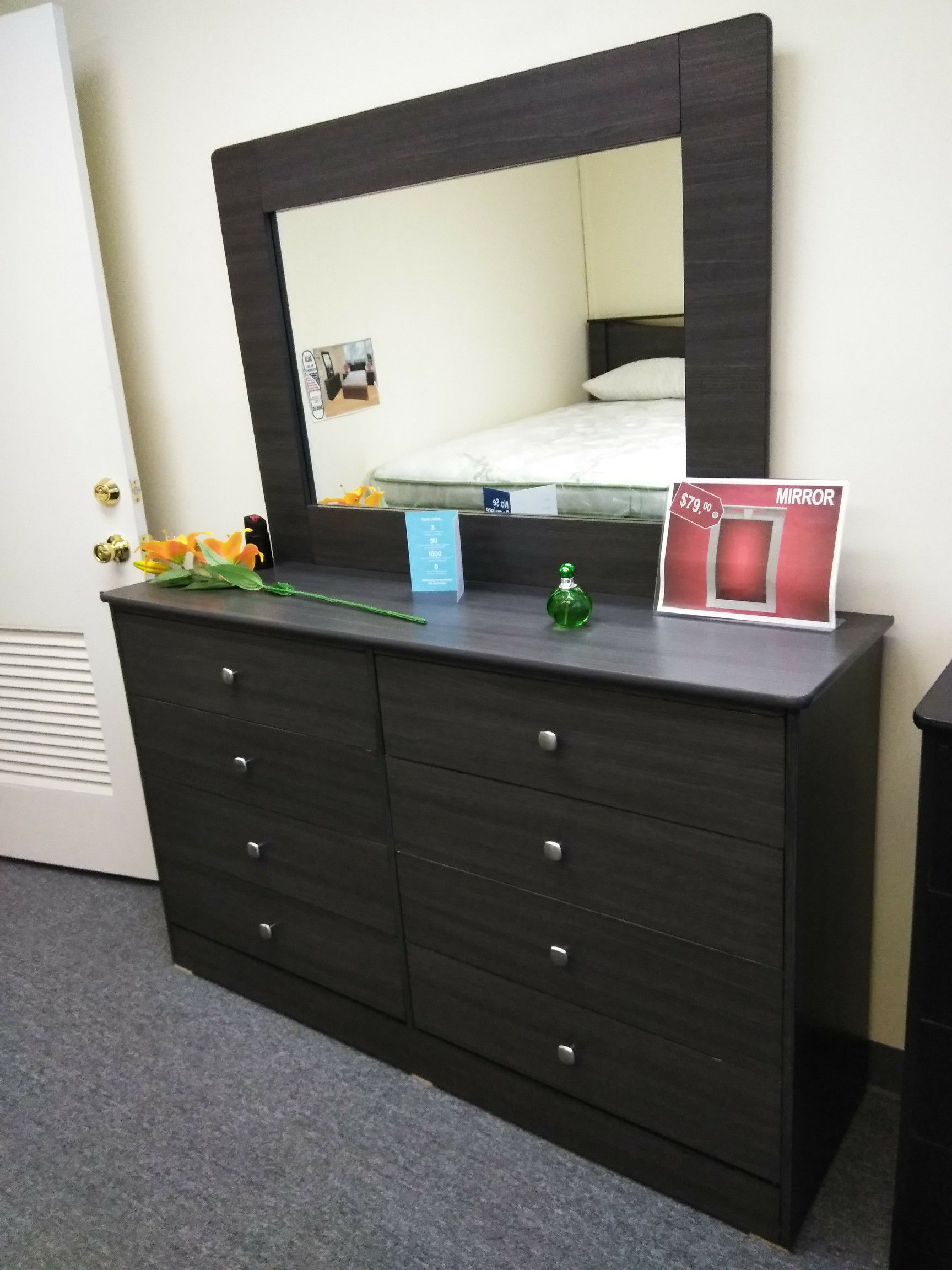 8 cabinet dresser cajonera with mirror