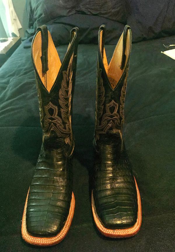 3c14331e850 Cavenders alligator black size 9 boots for Sale in Mesquite, TX - OfferUp