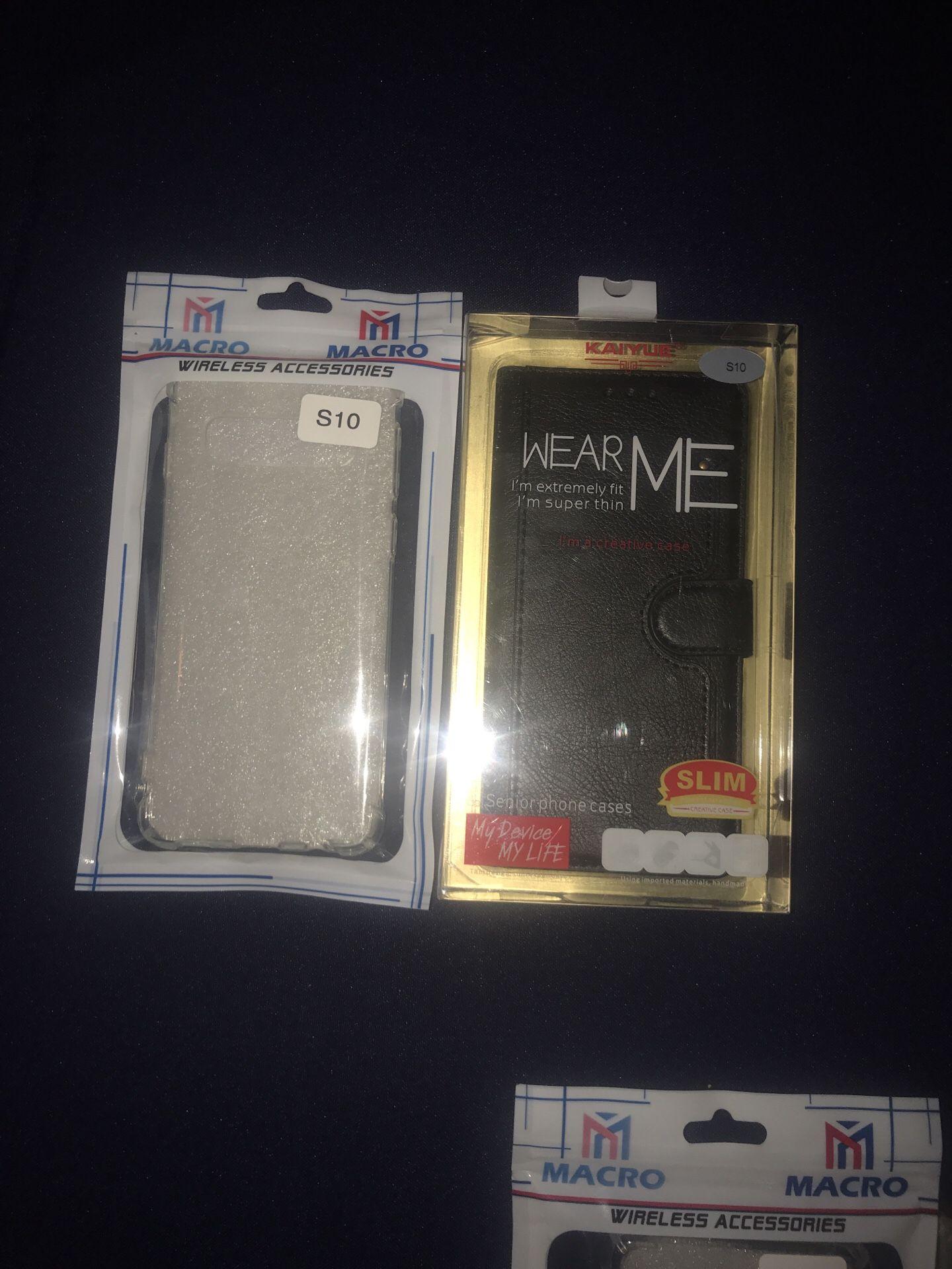 S10, s10 lite, s10+ carteras, protectores para teléfonos