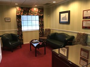 Reception area furniture, leather couch, leather club chair, coffee table, two high back chairs. for Sale in Pittsburgh, PA