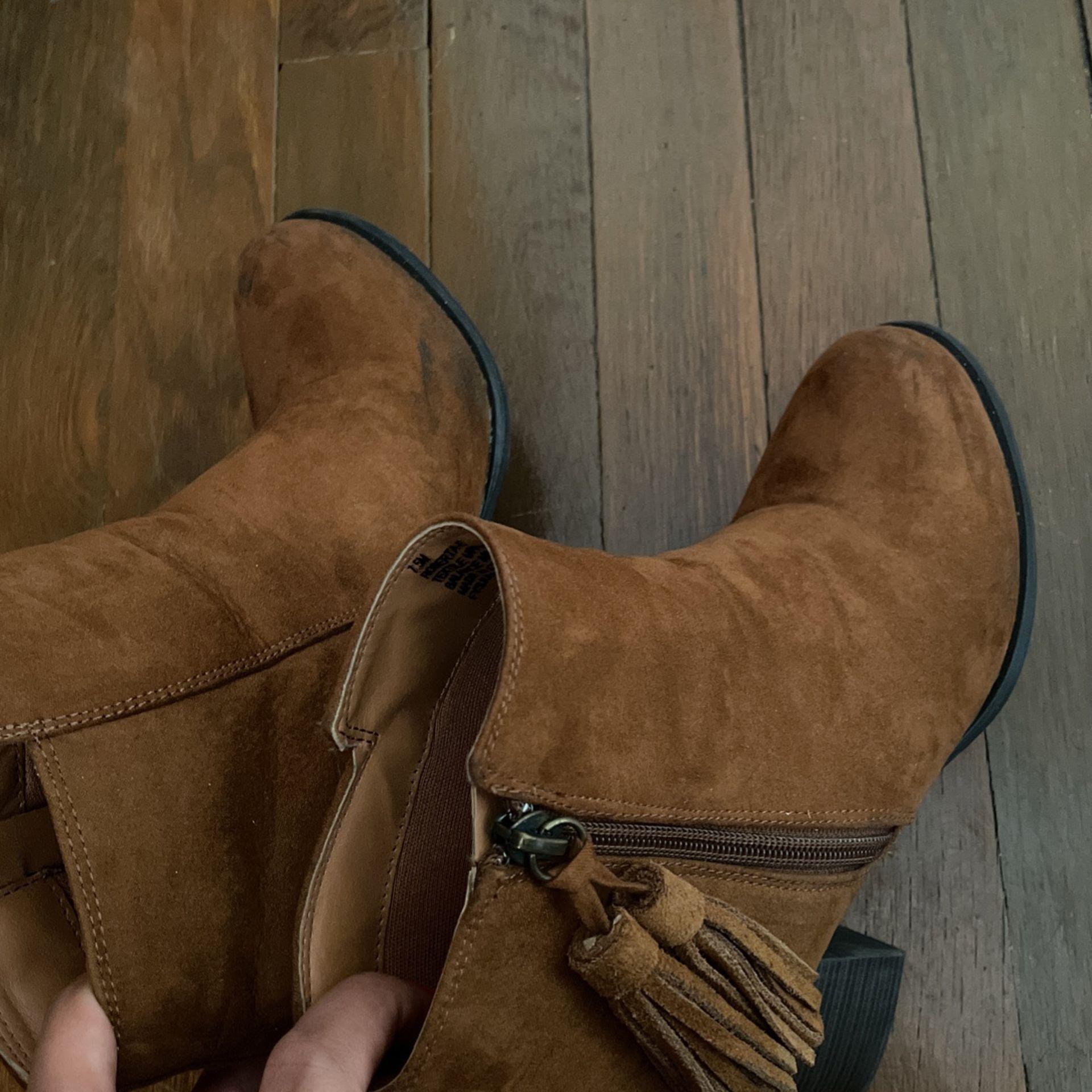 Tan Boots
