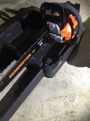 Remington 46-cc 2-cycle 20-in Gas Chainsaw with Case for Sale in Alafaya, FL