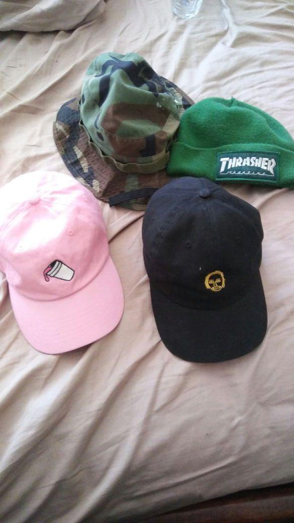 Thrasher beanie earl sweatshirt dad hat Superrradical dad hat bucket hat  camo for Sale in Moreno Valley 247dad95912