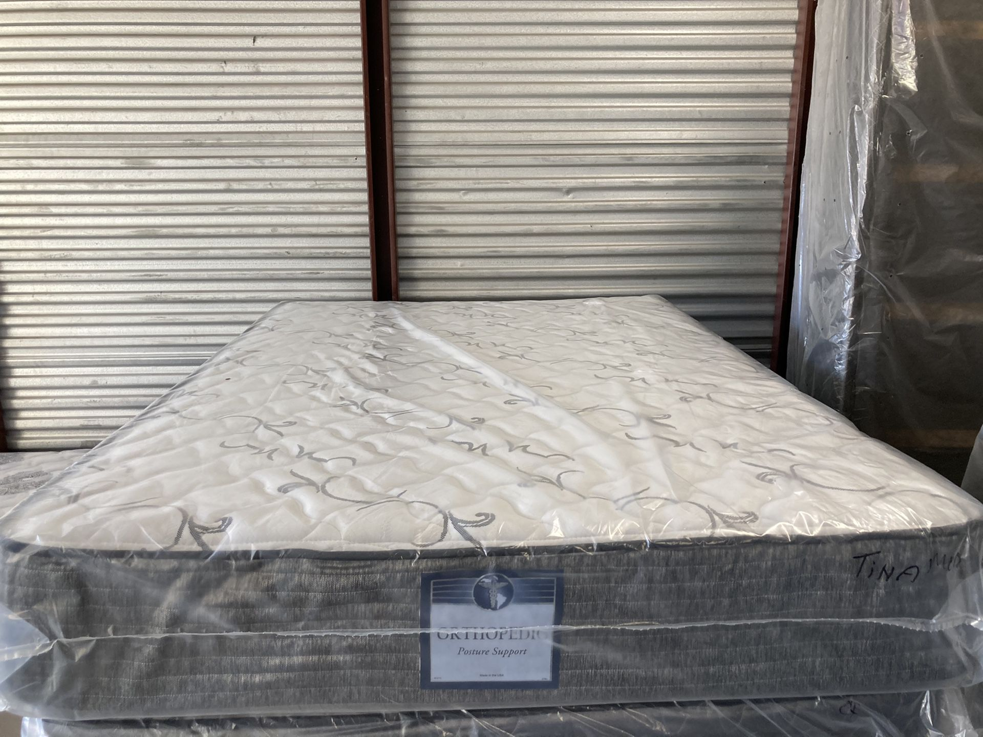 New full deluxe medium feel mattress and box spring