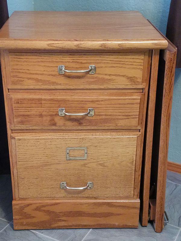 3 Drawer Oak Drop Leaf Desk For Sale In Marysville Wa